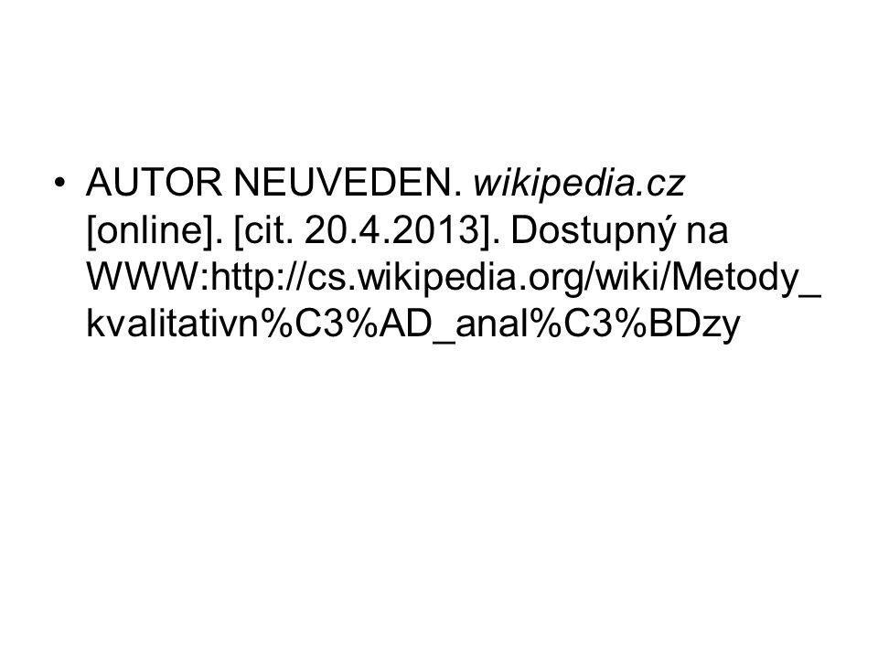 AUTOR NEUVEDEN. wikipedia. cz [online]. [cit. 20. 4. 2013]